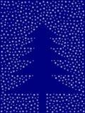 从雪花的圣诞树 免版税库存图片