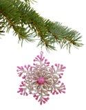 以雪花的形式圣诞节玩具 免版税图库摄影