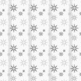 雪花的无缝的样式在whrite背景eps 10的 库存照片