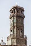 雪花石膏清真寺Clocktower开罗埃及 免版税图库摄影