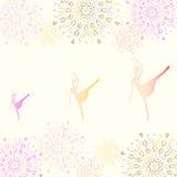 雪花背景的芭蕾舞女演员  皇族释放例证