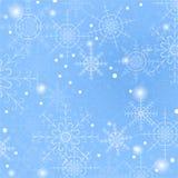 雪花蓝色传染媒介例证背景  库存照片