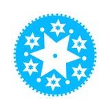 雪花蓝色象 传染媒介干净的设计象 向量例证