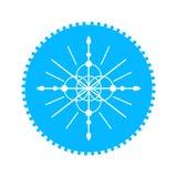 雪花蓝色象 传染媒介干净的设计象 皇族释放例证