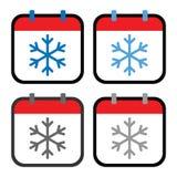 雪花象集合圣诞节冬天线日历