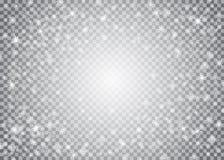 雪花透明装饰作用 免版税库存图片