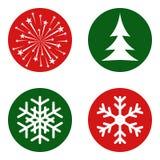 雪花, xmas树,烟花 免版税库存图片
