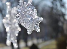 雪花;关闭圣诞节装饰 图库摄影