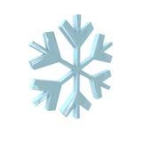 在3D的雪花 库存图片