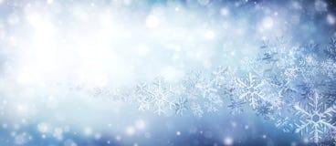 雪花水晶在漩涡的 免版税库存图片