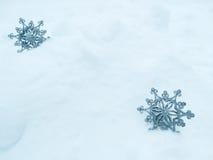 雪花仿造作为冬天纹理背景 免版税库存图片