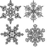 4雪花 库存图片