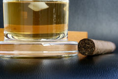 雪茄威士忌酒 库存图片