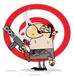 雪茄流氓抽烟坚韧 向量例证