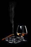 雪茄科涅克白兰地 免版税库存图片