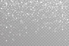 雪落的冬天雪花圣诞节新年设计元素模板传染媒介例证 皇族释放例证
