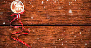 雪落的综合图象 免版税库存照片