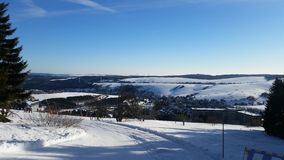 雪视图 库存照片