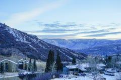 雪许多滑雪胜地 库存图片