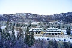 雪许多滑雪胜地 库存照片