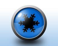 雪象 圆光滑的按钮 库存图片