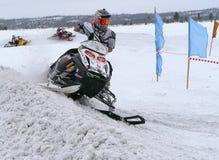 雪越野跑 免版税库存照片
