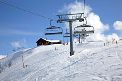 滑雪足迹在Lindvallen Salen 达拉纳省 瑞典 库存照片