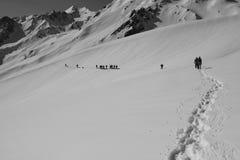 雪足迹 免版税图库摄影