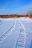 雪跟踪 图库摄影
