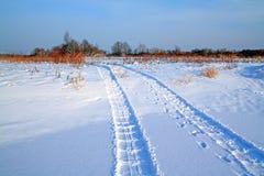 雪跟踪 库存图片