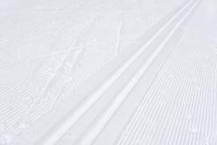 滑雪轨道,抽象背景 免版税库存照片