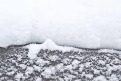 雪边界 库存照片