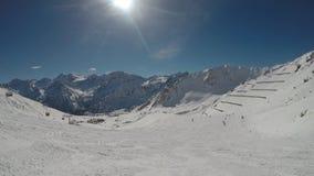 滑雪通过滑雪者的眼睛 股票录像