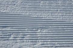 滑雪道的表面 图库摄影