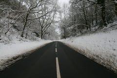雪道 免版税库存图片