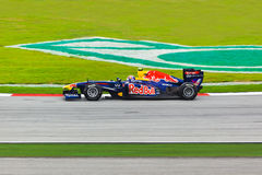 雪邦,马来西亚- 4月10 :马克・韦伯(队红色公牛赛跑) 库存照片
