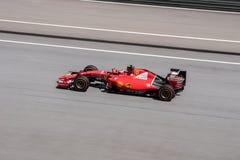 雪邦- 3月27 :在区段3的Kimi Räikkönen 免版税库存图片