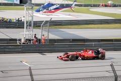 雪邦- 3月28 :Kimi Räikkönen在合格的会议上 库存照片