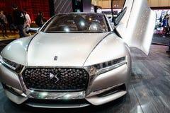 雪铁龙神的DS概念,汽车展示会日内瓦2015年 免版税库存照片