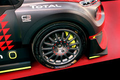 雪铁龙C3 WRC Rallye赛车 免版税库存照片