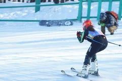 滑雪队 免版税库存图片