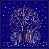 雪降雪结构树冬天 向量例证