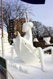 雪雕全国竞争-莱芒湖, WI 图库摄影
