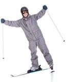 滑雪雪体育运动跟踪冬天 图库摄影