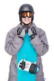 滑雪雪体育运动跟踪冬天 免版税库存图片