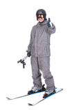 滑雪雪体育运动跟踪冬天 库存图片
