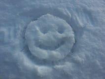 雪面带笑容 免版税库存图片