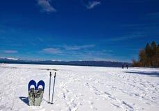 雪靴 库存照片