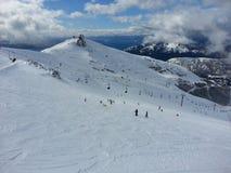 滑雪领域 免版税库存图片