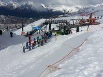 滑雪领域2 库存照片